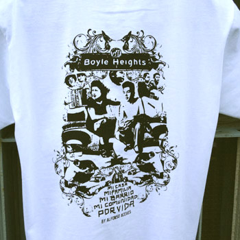 "Alfonso Aceves ""Boyle Heights"" T-shirts (White)"